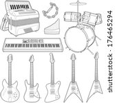 music instruments collection  ... | Shutterstock .eps vector #176465294