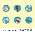 how to properly disinfect your...   Shutterstock .eps vector #1764672839