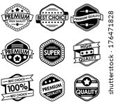 set of retro vintage badges and ... | Shutterstock .eps vector #176471828