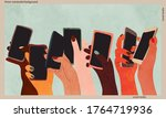 people of different nations are ... | Shutterstock .eps vector #1764719936