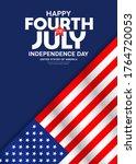 celebration flag of america...   Shutterstock .eps vector #1764720053