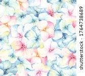 watercolor seamless pattern... | Shutterstock . vector #1764738689