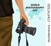 world photography day vector... | Shutterstock .eps vector #1764747320