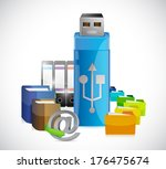 usb storage folders and... | Shutterstock . vector #176475674