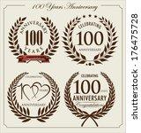 anniversary laurel wreath  100... | Shutterstock .eps vector #176475728