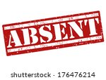 absent  grunge rubber stamp on... | Shutterstock .eps vector #176476214