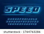 futuristic dynamic alphabet ... | Shutterstock .eps vector #1764763286