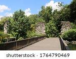 Entrance Wooden Bridge To...
