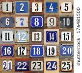 collection of house numbers one ... | Shutterstock . vector #176481500