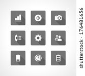 web site vector icons set... | Shutterstock .eps vector #176481656