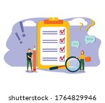 survey vector illustration.... | Shutterstock .eps vector #1764829946