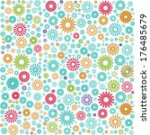 flowers on the cover  the... | Shutterstock .eps vector #176485679