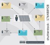 infographics organization flow... | Shutterstock .eps vector #176488928
