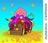 vector illustration   octopus... | Shutterstock .eps vector #1764900650