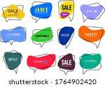 big set of flat colorful  black ... | Shutterstock .eps vector #1764902420