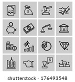 vector black business icons | Shutterstock .eps vector #176493548