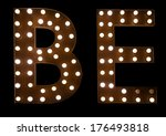 the letter b and e in black | Shutterstock . vector #176493818