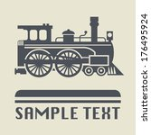 locomotive icon or sign  vector ... | Shutterstock .eps vector #176495924