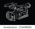 video camera | Shutterstock .eps vector #176498000