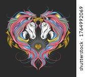 unicorn full rainbow spectrum...   Shutterstock .eps vector #1764992069