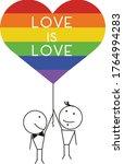 vector design of gay men couple ...   Shutterstock .eps vector #1764994283