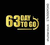 63 day to go gradient label...   Shutterstock .eps vector #1765009340