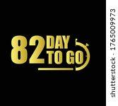 82 day to go gradient label...   Shutterstock .eps vector #1765009973