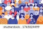 people around the world pattern ... | Shutterstock .eps vector #1765024499