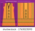 salwar kameez artwork for ready ... | Shutterstock .eps vector #1765025093