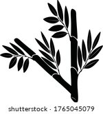 vector image of a bamboo tree...   Shutterstock .eps vector #1765045079