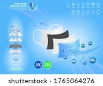 set of four layer surgical mask ...   Shutterstock .eps vector #1765064276