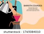 barista courses. barista making ...   Shutterstock .eps vector #1765084010