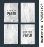 glued paper template.  wrinkled ... | Shutterstock .eps vector #1765091609