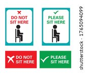 do not sit here   please sit... | Shutterstock .eps vector #1765094099