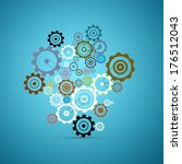 abstract cogs   gears set on... | Shutterstock . vector #176512043