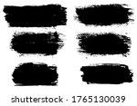 set six black strokes of paint... | Shutterstock . vector #1765130039