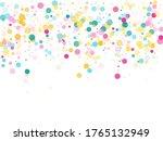 memphis round confetti airy...   Shutterstock .eps vector #1765132949
