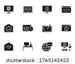 remote work glyph vector icons...