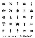 construction black vector icons ...