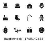 christmas silhouette vector...