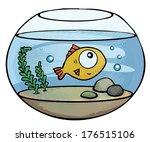 Little Cute Goldfish In A Fish...