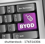keyboard illustration with byod ... | Shutterstock . vector #176516306