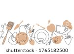 background with morning food... | Shutterstock .eps vector #1765182500