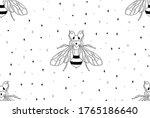 abstract honey bee seamless...   Shutterstock .eps vector #1765186640