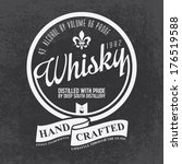 hand crafted whisky lettering... | Shutterstock .eps vector #176519588