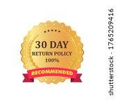 gold premium 30 day return...   Shutterstock .eps vector #1765209416