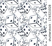 vector seamless dices background   Shutterstock .eps vector #176521028