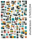 collections of info graphics... | Shutterstock .eps vector #176521244