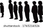 children standing in line ... | Shutterstock .eps vector #1765216526