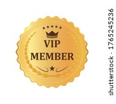 gold premium vip member golden...   Shutterstock .eps vector #1765245236